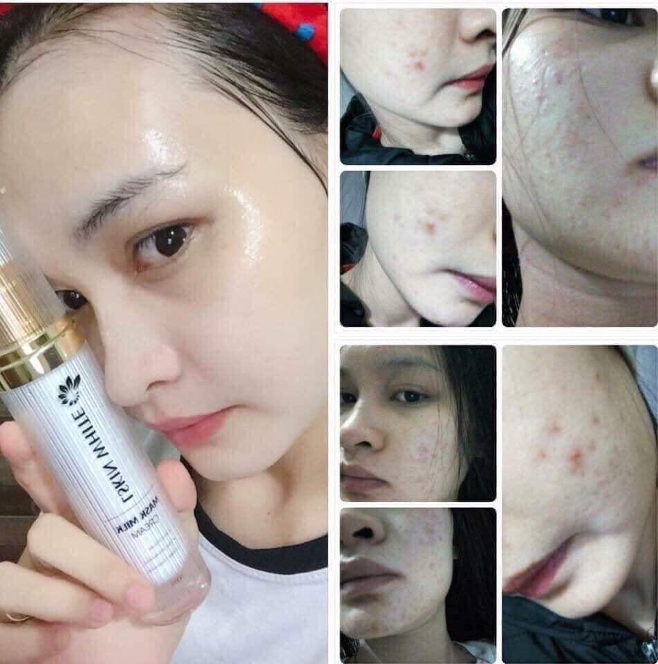 làn da căng bóng mịn màng sau khi sử dụng