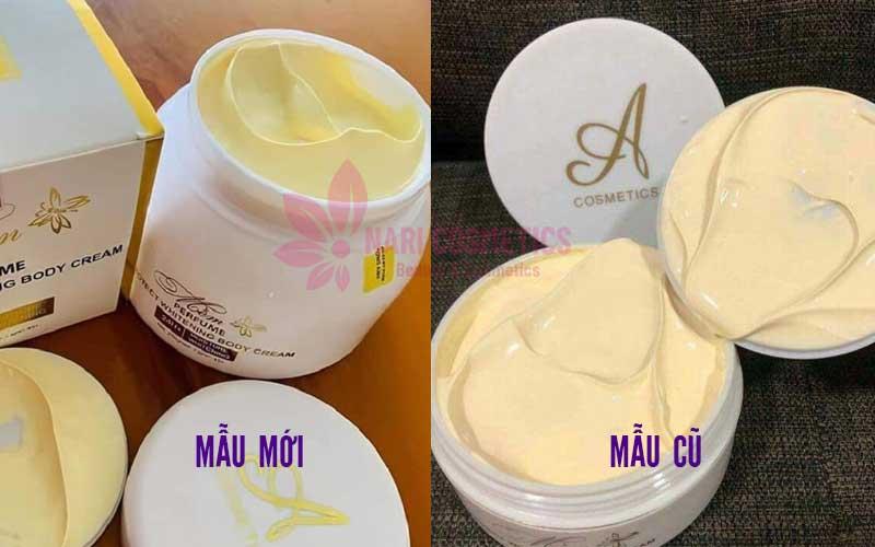 Chât kem so sánh giữa kem body mềm mới và cũ
