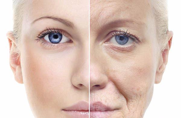 Giai đoạn bắt đầu của sự lão hóa trên da mặt
