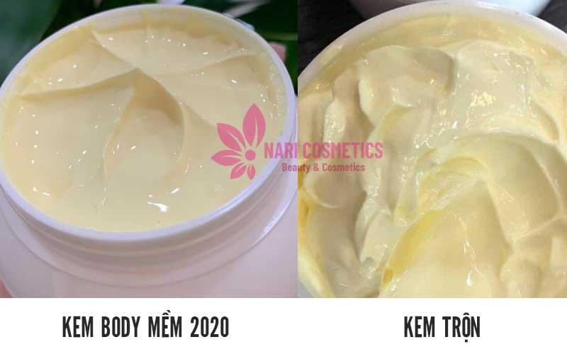 Chất kem dễ nhầm lẫn giữa body mềm và kem trộn