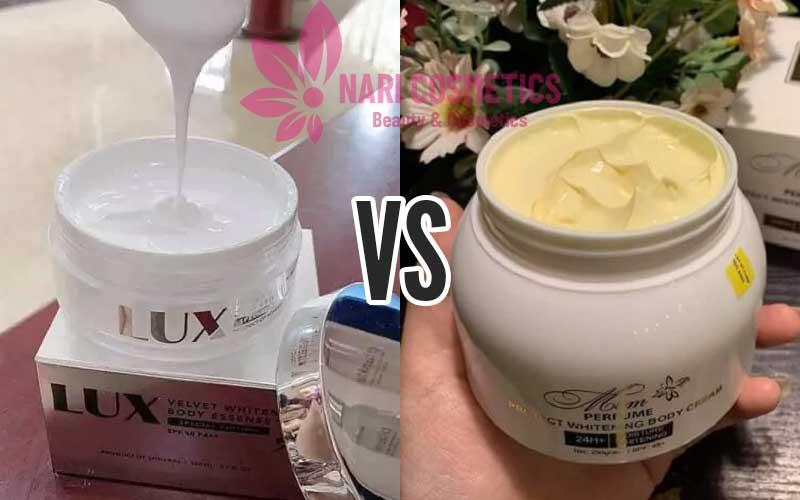 so sánh kem body Lux và kem body Mềm