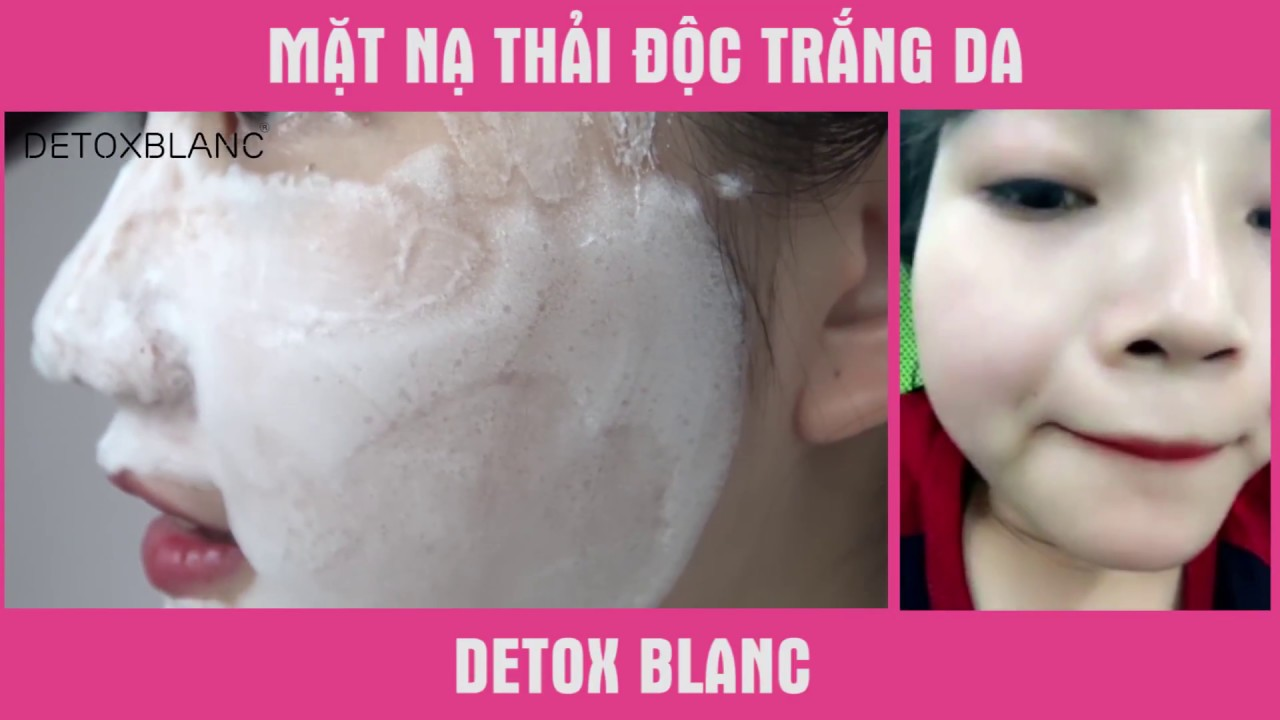 làn da được thải độc sẽ trắng sáng và mềm mịn hơn