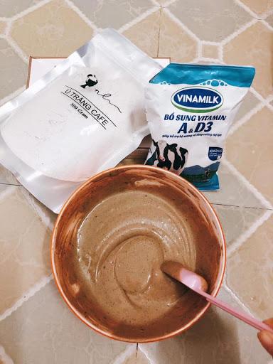 Cách dùng Ủ Trắng Cafe với sữa tươi không đường