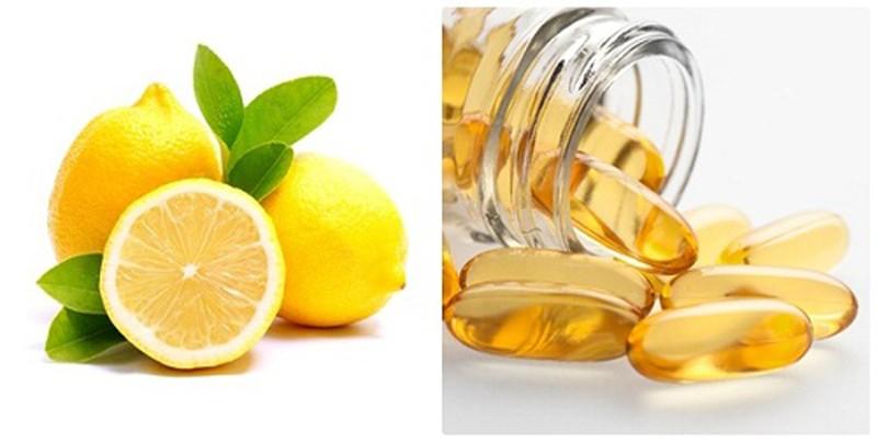 Làm Đẹp Da Bằng Nước Vo Gạo và vitamin E chanh