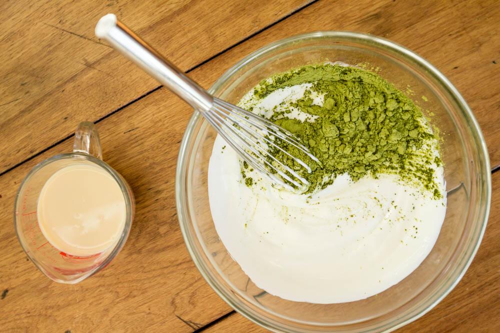 Kết hợp sữa chua với trà xanh