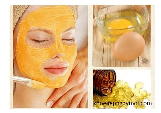 Cách làm trắng da bằng trứng gà và vitamin E.