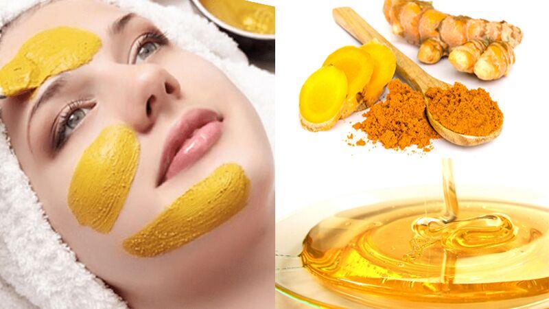 Sử dụng mật ong và tinh bột nghệ trị mụn trứng