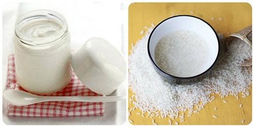 Làm trắng da bằng sữa chua với nước vo gạo