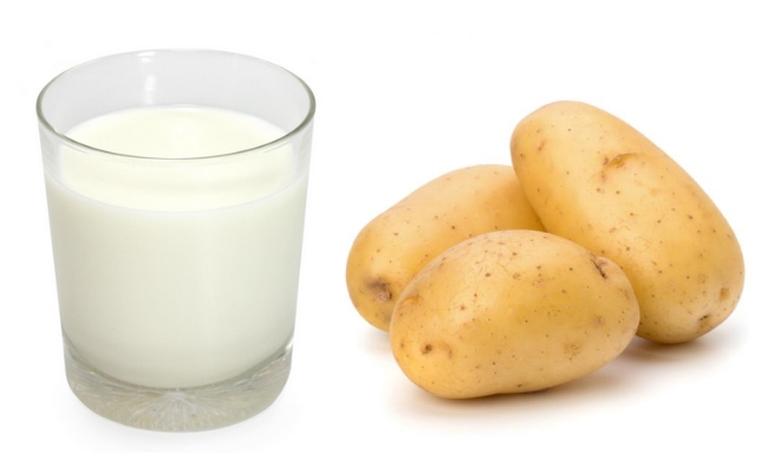 Công thức làm trắng da bằng sữa tươi với khoa tây