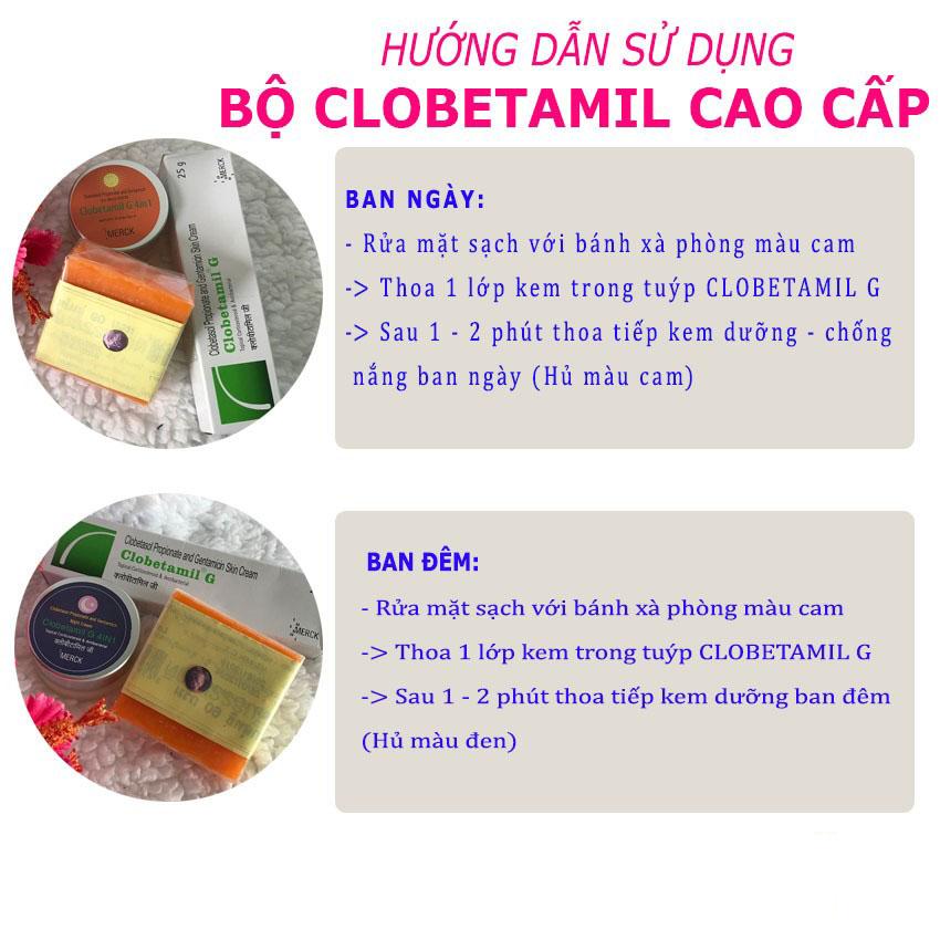 Cách sử dụng bộ trị nám Clobetamil G