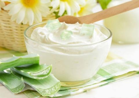 Cách trị mụn cám từ nha đam và sữa chua không đường