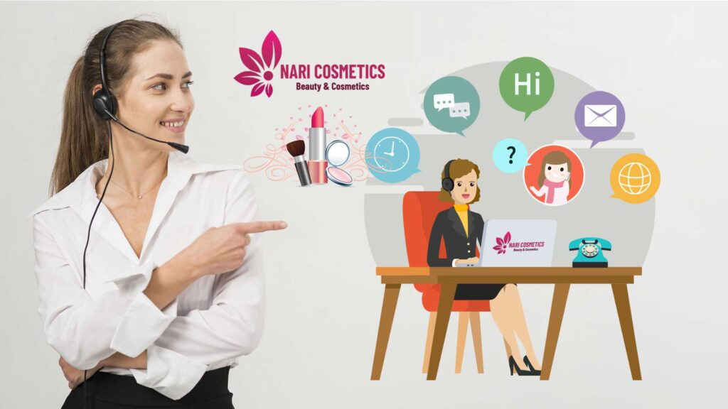 nhân viên Nari Cosmetics gọi điện xác nhận đơn hàng