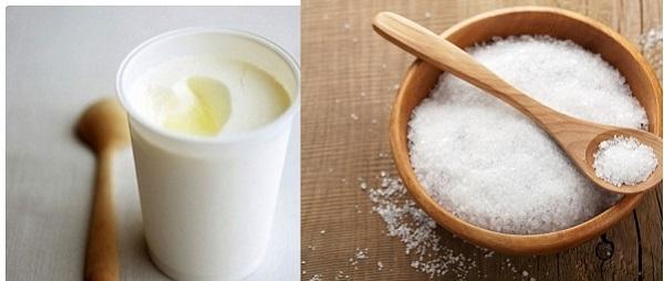 Làm trắng da từ sữa chua và muối