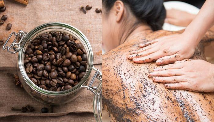 Tẩy da chết bằng bã cà phê muối