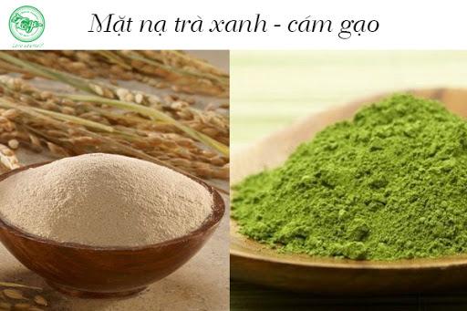 Bột cám gạo kết hợp với bột trà xanh