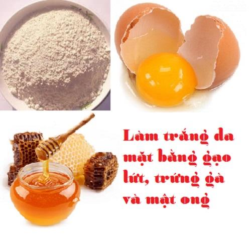 Công thức làm trắng da bằng cám gạo với trứng gà