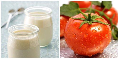 Làm trắng da từ sữa chua và cà chua
