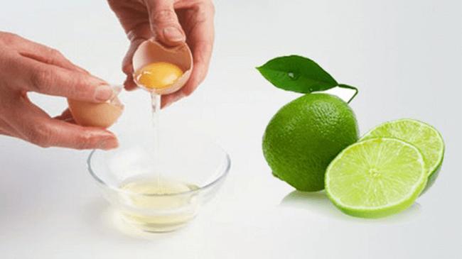 Sử dụng lòng trắng trứng nước cốt chanh