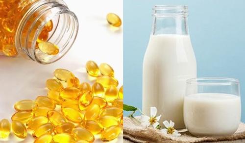 Mặt nạ vitamin E kết hợp với sữa tươi