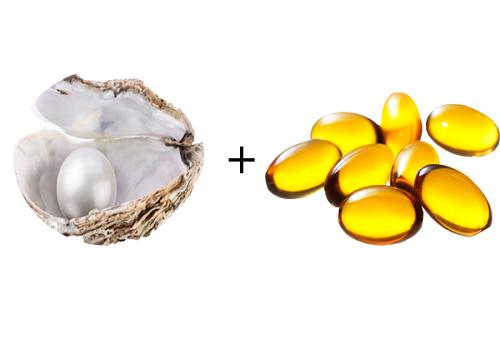 Vitamin E kết hợp với bột ngọc trai