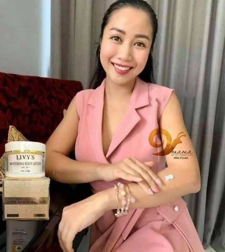 Ốc Thanh Vân đã sử dụng Kem Body Livy's