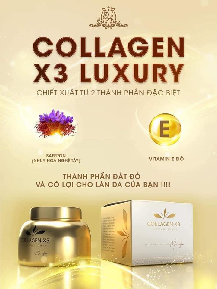 Sản phẩm Kem Collagen X3 Luxury mới đột phá với 2 thành phần đắt giá