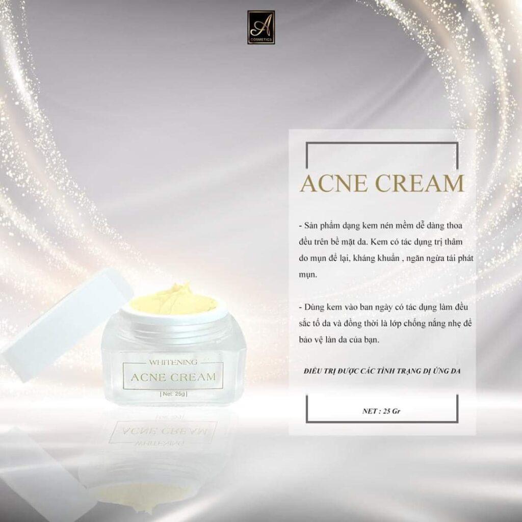 kem trị mụn a cosmetics giúp làm khô cồi mụn nhanh chóng