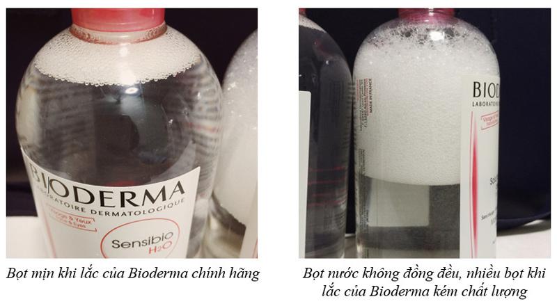 Bọt khác nhau khi lắc sản phẩm