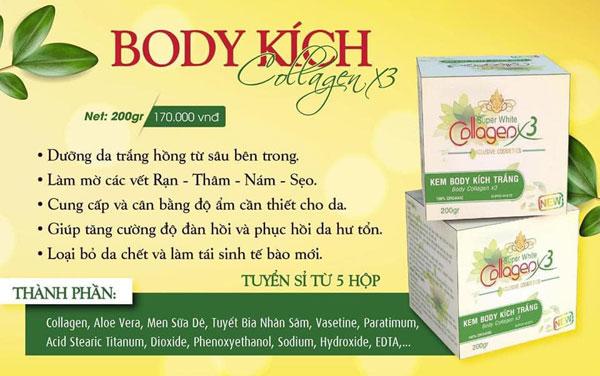 Công Dụng Kem Body Kích Trắng Collagen X3 Xanh