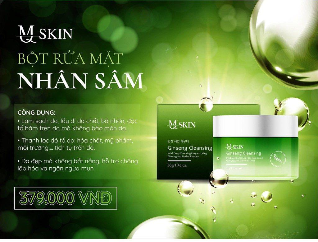 Công Dụng Của Bột Rửa Mặt MQ Skin