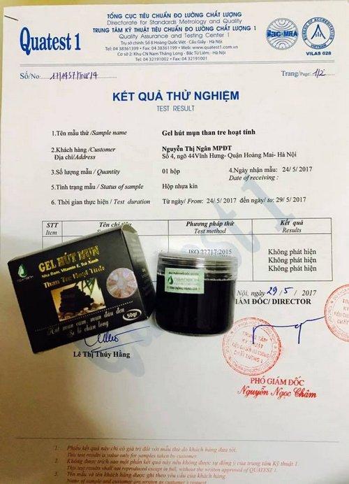 Gel Lột Mụn Than Tre Ngân Bình được cơ quan có thẩm quyền câp giấy chứng nhận