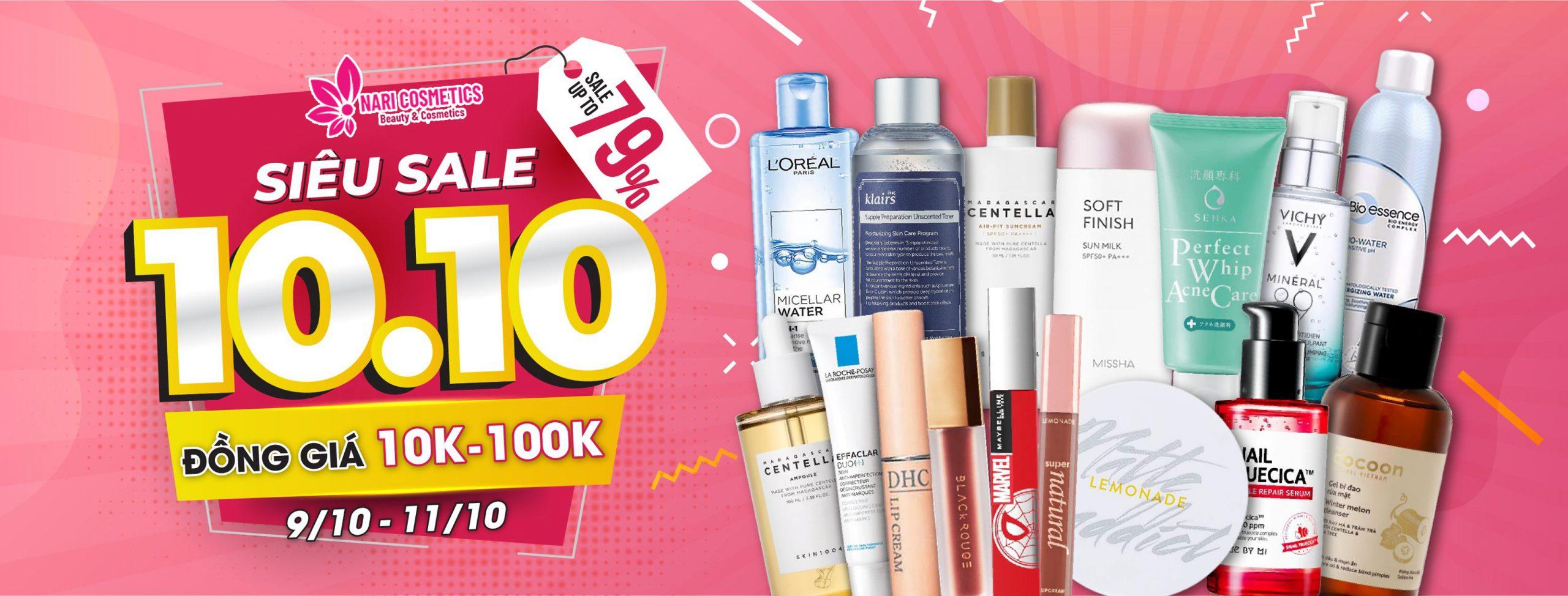 SIÊU SALE 10.10 – Sale Up To 79%, Đồng giá 10k, 100k từ 9/10-11/10
